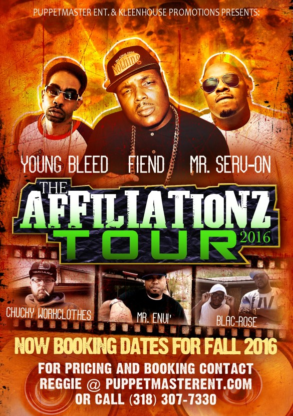 Affiliationz Tour 2016 flyer